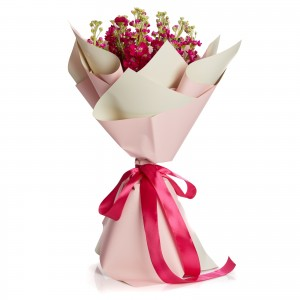 Bouquet of 9 matthiola cyclam flowers
