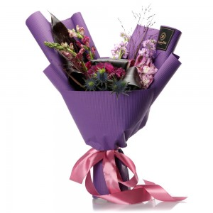 """Purple Love"" Flowers Bouquet"