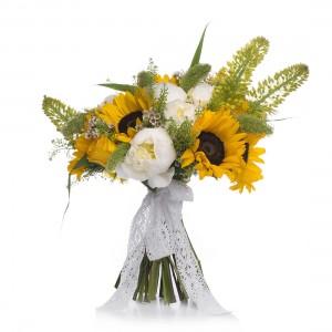 Buchet de mireasa floarea-soarelui