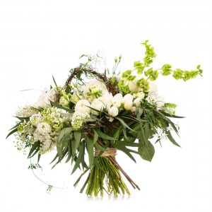 Bouquet of flowers with ranunculus Jasmine Spring