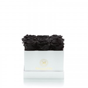 Box of 9 black cryogenic roses