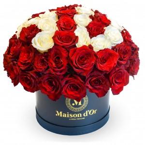 Box of 69 roses