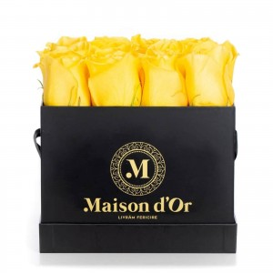 Box of 25 yellow roses