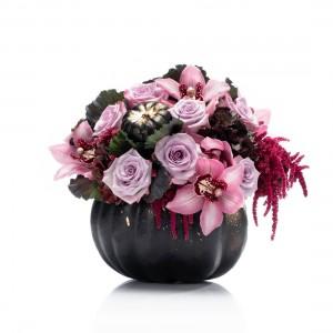 Halloween black floral arrangement