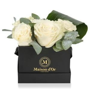 Box of white roses