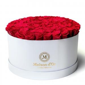 Cutie cu 101 trandafiri rosii