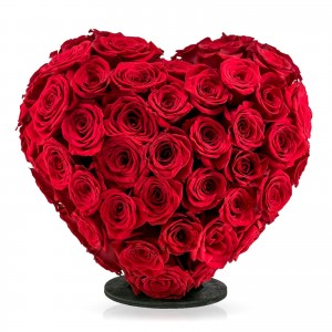 3D heart 101 red roses