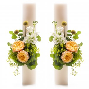 Short Wedding Candles Vuvuzela gold
