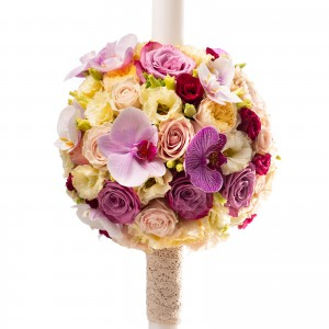 Long Wedding Candle orchid roses