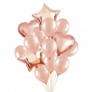 Set of rose helium balloons