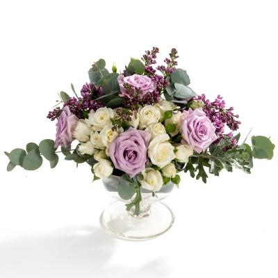 Aranjament floral de nunta din minirosa, trandafiri