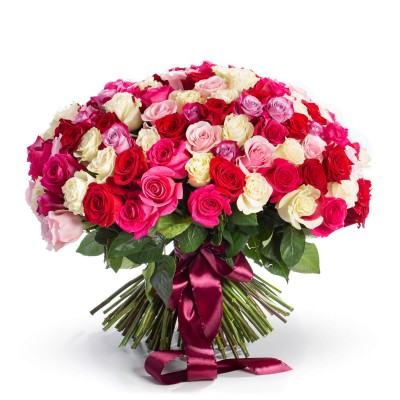 Buchet 159 trandafiri multicolori