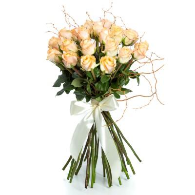 Buchet 25 Trandafiri Portocalii