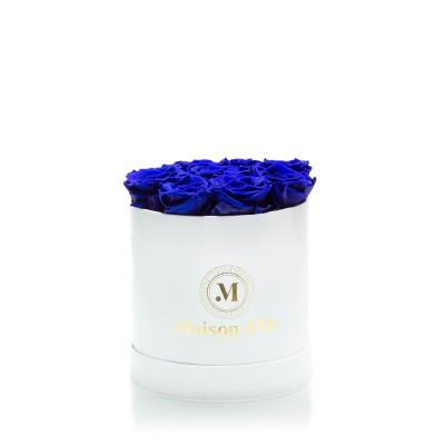Cutie 9 trandafiri criogenati albastri