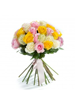 Bouquet 45 Multicolored Roses Undying Love