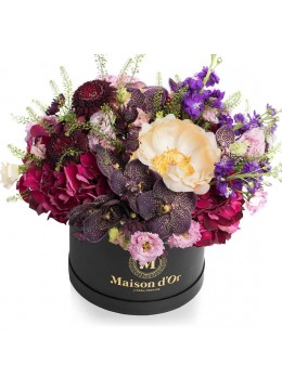 Desire Collection - Box with vanda and hydrangea orchids