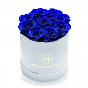 Box of 9 blue cryogenic roses