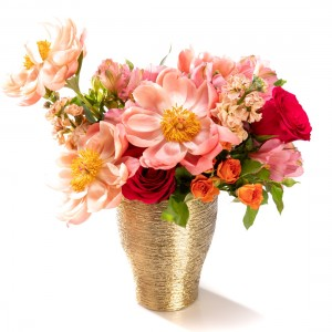 Floral arrangement with peonies and spray roses Freju