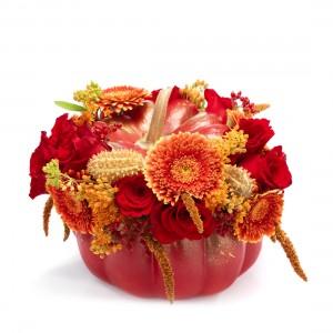 Halloween red floral arrangement