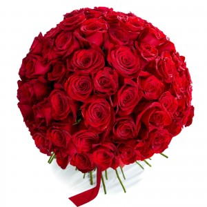 Bouquet of 101 red roses
