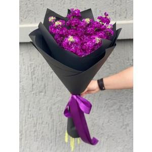 Bouquet of flowers 9 matthiola purple