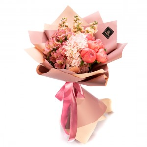 Bouquet Of Flowers With Peonies, Hydrangea And Alstroemeria