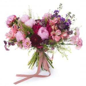 Pink peony bridal bouquet