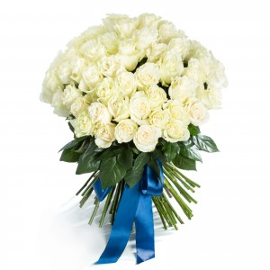 Bouquet of 75 white roses