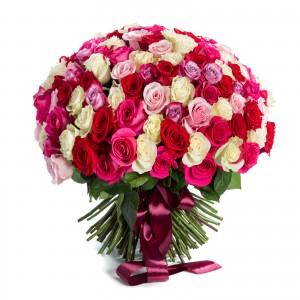 Bouquet 149 multicolored roses