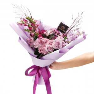 """Sugar Plum"" Flowers Bouquet"