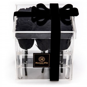 Acrylic Box 9 Black Cryogenic Roses