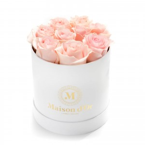 Box of 9 pink roses