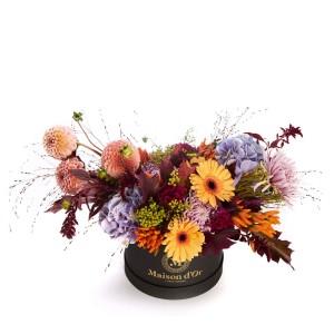 Cutie cu dahlia si crizantema Grenoble