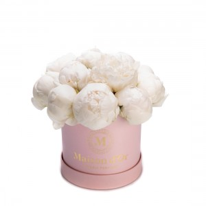 Flower box with white peonies Jessica