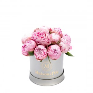Flower box with pink peonies Anee
