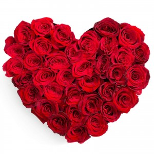Heart box 33 red roses