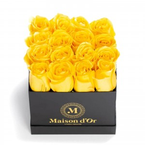 Box of 25 yellow roses