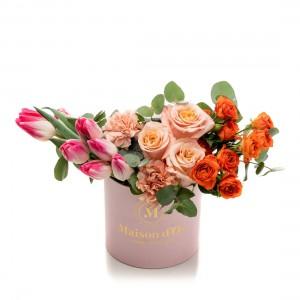 Cutie roz cu flori Bianca