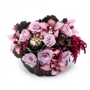 Aranjament floral black Halloween