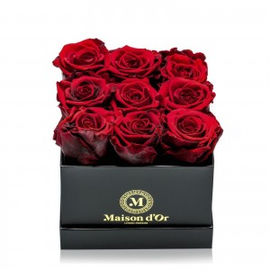 Box of 9 red cryogenic roses