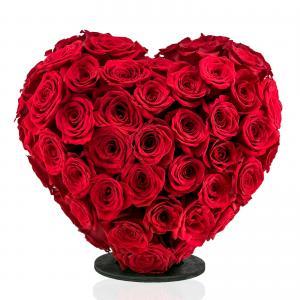 Inima 3D 101 trandafiri rosii