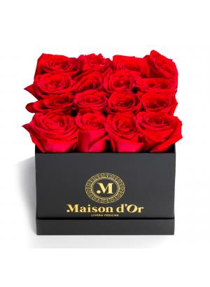 Cutie 17 trandafiri rosii